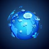 Trabalhos em rede globais Fotografia de Stock