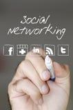 Trabalhos em rede sociais Foto de Stock Royalty Free