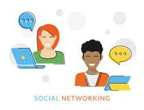 Trabalhos em rede sociais Imagens de Stock Royalty Free