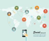 Trabalhos em rede sociais Ilustração Stock