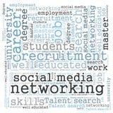 Trabalhos em rede sociais dos meios Imagem de Stock Royalty Free