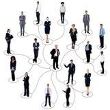 Trabalhos em rede sociais entre executivos fotos de stock