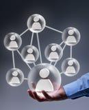 Trabalhos em rede sociais no negócio Foto de Stock