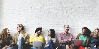 Trabalhos em rede Team Concept da tecnologia da conexão de Digitas Imagens de Stock Royalty Free