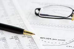 Trabalhos financeiros. Imagens de Stock