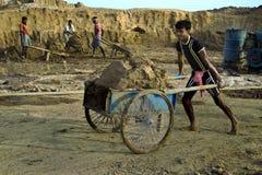 Trabalhos indianos foto de stock
