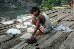 Trabalhos infanteis em India. Foto de Stock Royalty Free