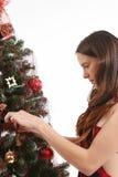Trabalhos na árvore de Natal Foto de Stock Royalty Free