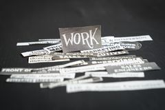 Trabalhos ou conceito das carreiras fotos de stock