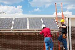 Trabalhos verdes - potência solar imagens de stock