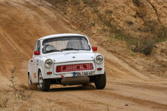 Trabant Auto Rallye Stock Afbeeldingen