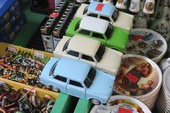 Trabant-autostuk speelgoed modellen stock foto's