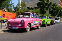 Trabant cars Royalty Free Stock Image