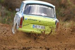 Trabant Rallye Auto Lizenzfreie Stockbilder
