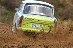 Trabant Rallye bil royaltyfria bilder