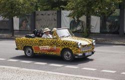 Trabant 601 retro vehicles from Trabi Safari touristic service. Stock Photos