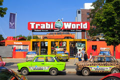 Trabant samochody w Berlin obrazy royalty free