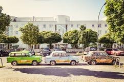 Trabants在柏林,德国停放了 免版税库存照片