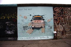 Trabbi: East Side Gallery Berlin Stock Photos
