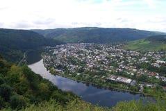 Traben-Trabach的,德国Mosel河 库存照片