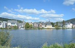 Traben-Trarbach, de Vallei van Moezel, Duitsland stock foto's