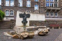 Traben-Trarbach Dr. Ernst Willen Spies fountain Stock Photo