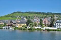 Traben-Trarbach Mosel dal, Tyskland Fotografering för Bildbyråer