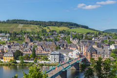 Traben-Trarbach on the Moselle panorama
