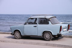 Trabi and the sea Royalty Free Stock Photography