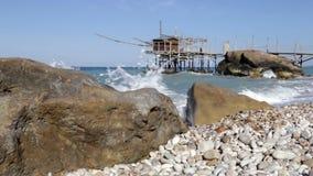 Trabocchi coast in Abruzzo, Italy. stock video