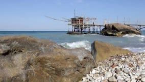 Trabocchi coast in Abruzzo, Italy. stock footage