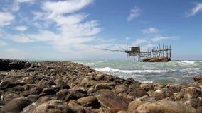 Trabocchi coast in Abruzzo, Italy. stock video footage