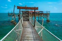 Costa dei Trabocchi, Chieti Province, Abruzzo & x28;Italy& x29;. The Trabocchi Coast, which corresponds to the coastal stretch Adriatic of province of Chieti, is Royalty Free Stock Photography