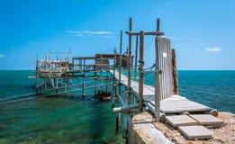 Costa dei Trabocchi, Chieti Province, Abruzzo & x28;Italy& x29;. The Trabocchi Coast, which corresponds to the coastal stretch Adriatic of province of Chieti, is Stock Photo