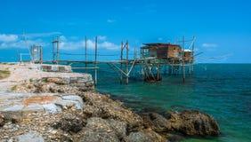 Costa dei Trabocchi, Chieti Province, Abruzzo & x28;Italy& x29;. The Trabocchi Coast, which corresponds to the coastal stretch Adriatic of province of Chieti, is Stock Photos
