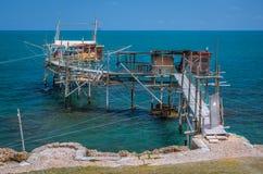 Costa dei Trabocchi, Chieti Province, Abruzzo Italy. The Trabocchi Coast, which corresponds to the coastal stretch Adriatic of province of Chieti, is a 70 Royalty Free Stock Photo