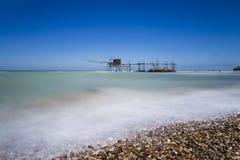 Trabocchi kust i Abruzzo, Italien Arkivbilder