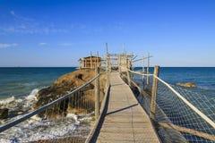 Trabocchi kust i Abruzzo, Italien Royaltyfria Bilder