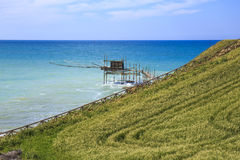Trabocchi kust i Abruzzo, Italien Royaltyfri Foto