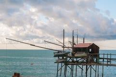 Trabocco, termoli,坎恩帕贝索,意大利 免版税库存图片