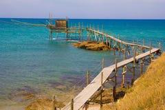 Trabocco at the Italian coast, Abruzzo - Italy. royalty free stock photo