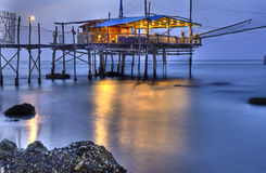 Trabocco (Old fishing house) Punta Rocciosa Fossacesia Chieti  I Royalty Free Stock Photography