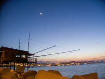Trabocco, a fishing equipment used in Italy. royalty free stock photo