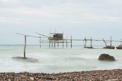 Trabocco , vasto marina italy royalty free stock image