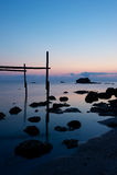 Trabucco,老捕鱼设备 免版税库存图片