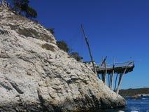 Trabucco che pesca macchina, Vieste, Italia del sud fotografia stock libera da diritti