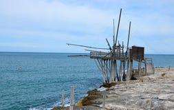 The trabucco, coast of Gargano, Italy Royalty Free Stock Photo