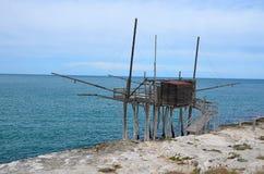 The trabucco, coast of Gargano, Italy Stock Image