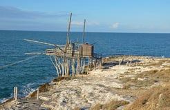 The trabucco, coast of Gargano, Italy Royalty Free Stock Photography
