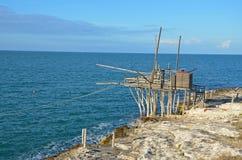 The trabucco, coast of Gargano, Italy Royalty Free Stock Images